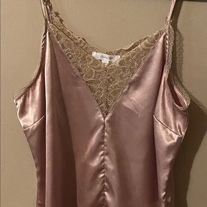 LACE SATIN CAMISOLE TOP
